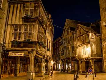 Old streets of France - Dinan, Brittany, France, rue de l'Apport