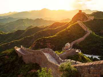 Chinesische Landschaft. - Landschaftspuzzle.