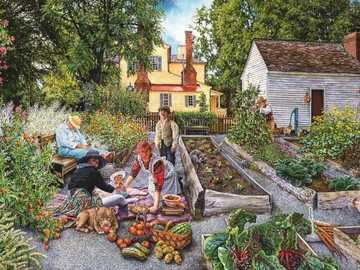 Garden landscape. - Landscape puzzle.