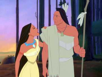POCAHONTAS - A classic in the field of animated films about the American settler John Smith and the Indian prince