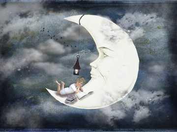 L'uomo nella luna - L'uomo nella luna con lanterna