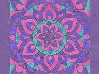 Mandala fialová