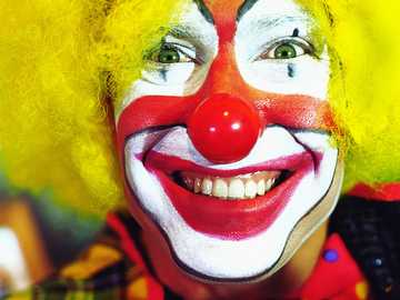 Colorful clown - Colorful laughing clown.