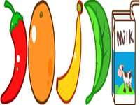 chili paprika narancs banán levél tej