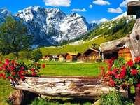 Az Alpokban.