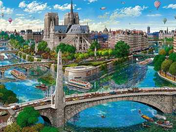 Buildings. Bridges. - Jigsaw puzzle. Buildings. Bridges.