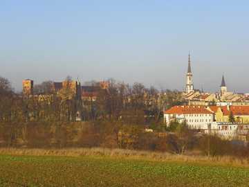 Panorama - Ząbkowice śląskie w styczniu 2020r.