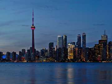 CN tower during daytime - High-res panorama of the Toronto skyline taken from the Toronto Islands. Toronto