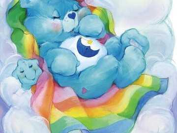 Loving teddy bears - Teddy Bear SLEEPING IN A CLOUD