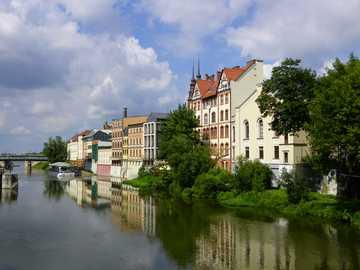 Odra en Opole - Odra en Opole, verano de 2017.