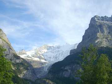 Panorama de la montaña Grindelwald - Panorama de la montaña Grindelwald