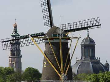 Mill in front of Middelburgh Zeeland - Mill in front of Middelburgh Zeeland