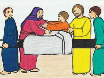 Für Kinder: Jesus erweckt den Jungen zu Nain - Für Kinder: Jesus erweckt den Jungen zu Nain