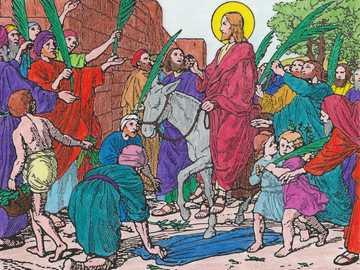 Pour les enfants: l'entrée de Jésus à Jérusalem - Pour les enfants: l'entrée de Jésus à Jérusalem