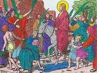 Voor kinderen: Jezus 'binnenkomst in Jeruzalem