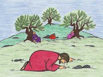 Pour les enfants: Jésus avec trois disciples sur le mont des Oliviers - Pour les enfants: Jésus avec trois disciples sur le mont des Oliviers