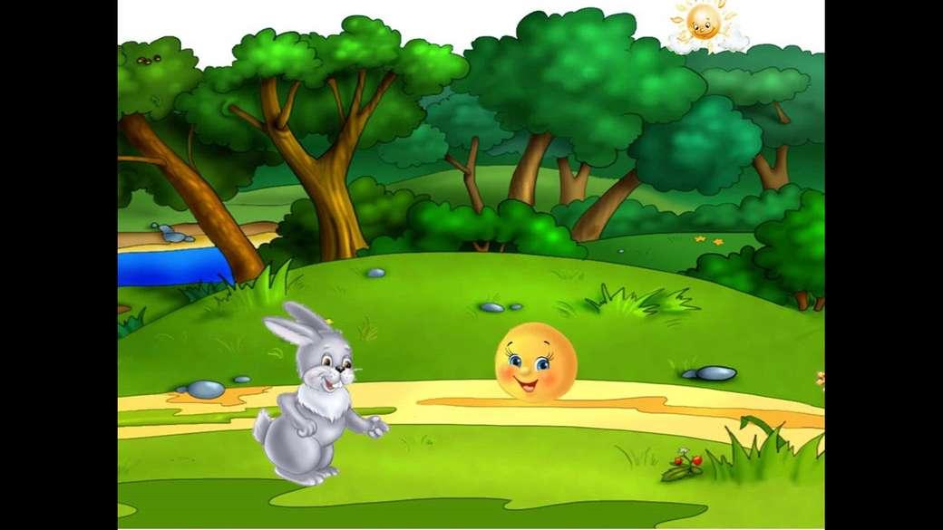 Donuthistorien - I berättelsens värld. I skogen med munken. Historien om åsnan, kaninen (3×2)