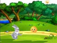 L'histoire du beignet - Dans le monde des histoires. Dans la forêt avec le beignet. L'histoire de l'âne, du lapi
