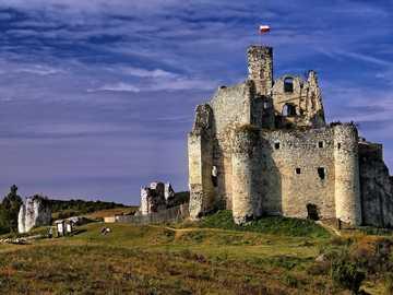 Medieval Castle in Mirów - the ruins of the castle in the Kraków-Częstochowa Jura