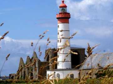 Landscape with a lighthouse. - Landscape puzzle.