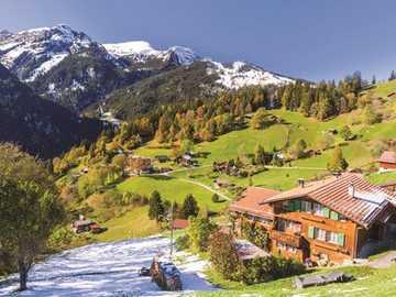In Switzerland. - Landscape puzzle.
