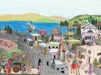 Pour les enfants: village au temps de Jésus