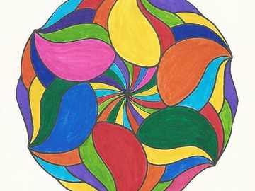 Mandala Regenbogenkreis - Mandala Regenbogenkreis