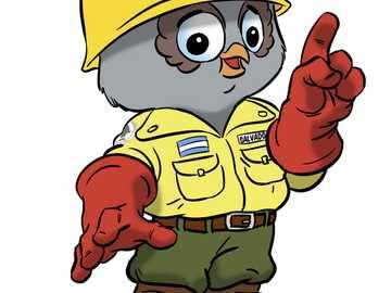 SALVADOR - El Búho Salvador es la mascota del Área de Incendios, comunicación y emergencias de la Administra