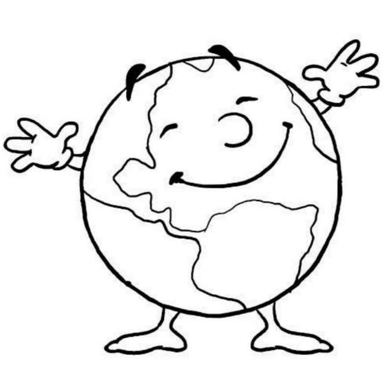 Tag der Erde - Dieses Bild zeigt den Globus (3×3)