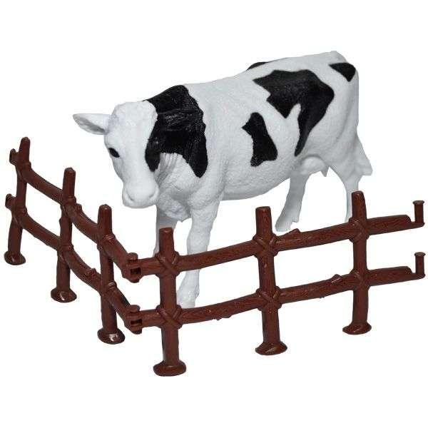Koe lola - Deze afbeelding toont een koe met zwarte vlekken (3×3)