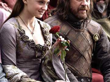 Le Trône de Fer - Sansa Stark et Eddard Stark