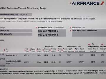 Air ticket - It is an electronic air ticket