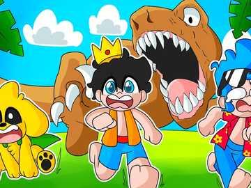 Compa- Dino - puzle de personajes de los compadretes