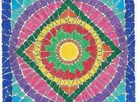 Mosaïque colorée Mandala