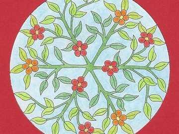 Mandala fleur jardin orange rouge - Mandala fleur jardin orange rouge
