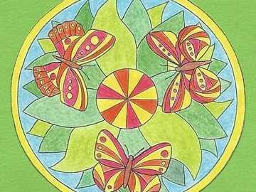 Mandala trois papillons - Mandala trois papillons