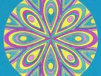 Mandala colorful rosette