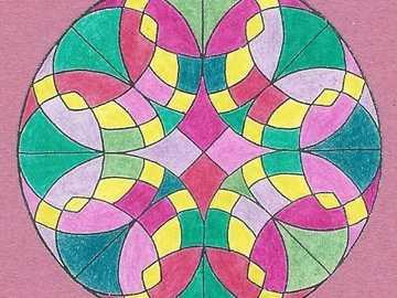 Mandala yellow green purple - Mandala yellow green purple
