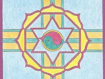 Mandala four symbols - Mandala four symbols
