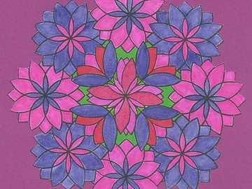 Mandala violet purple - Mandala violet purple