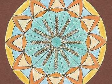Mandala wheat ears circle - Mandala wheat ears circle