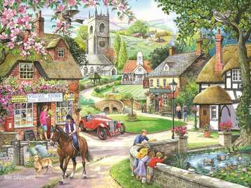 In the English countryside. - Landscape puzzle.