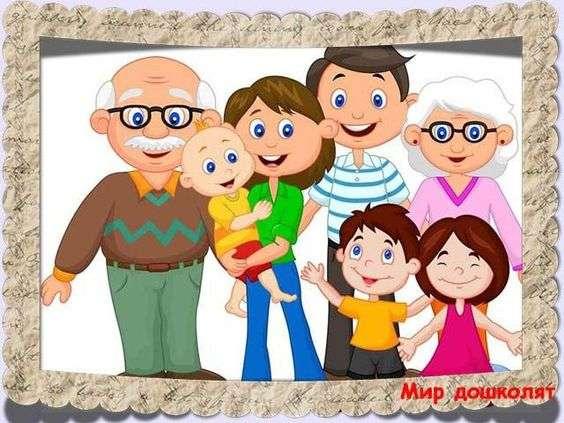 Mi familia - Resuelve el rompecabezas y nombra la imagen (5×4)