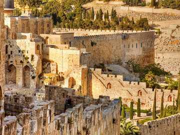 JÉRUSALEM - RUINES DE L'ANCIENNE VILLE DE JÉRUSALEM
