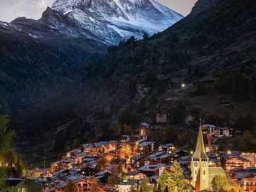 Zermatt. - Landscape puzzle.