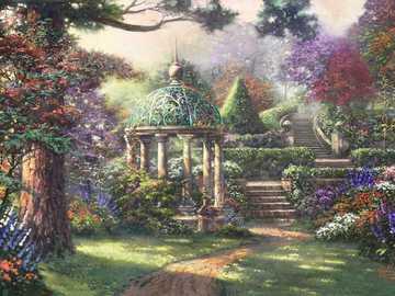 Fleurs dans le jardin. - Fleurs dans le jardin secret.