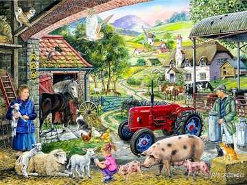 Animals in the countryside. - Puzzle: animals in the countryside.