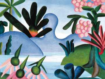 """O Lago Tarsila do Amaral - """"Eu inverto tudo na minha pintura. E o que eu vi ou senti eu estilizo"""""""