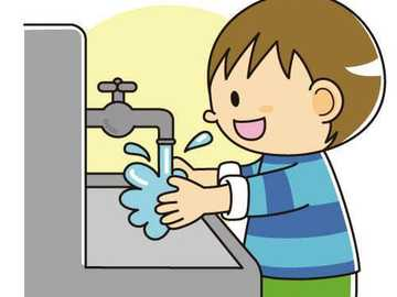 Child washing hands 4 - Child washing hands for initial