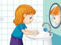 Κορίτσι που πλένει τα χέρια της 6